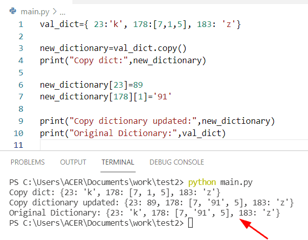 Python dictionary copy and update