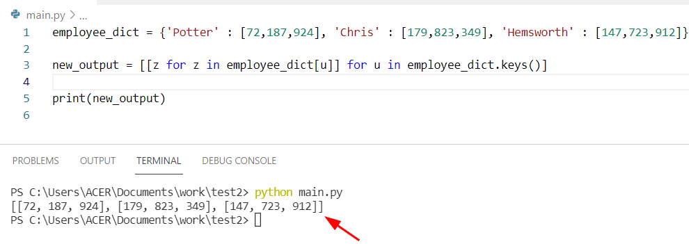 Python dictionary of lists iterate