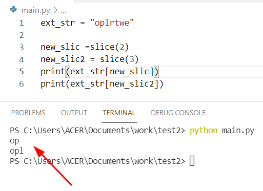 Python string list extract substring