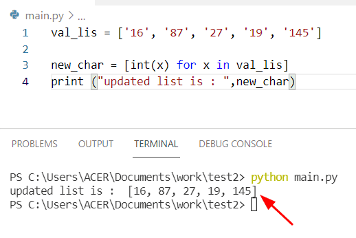 Python string to list of ints