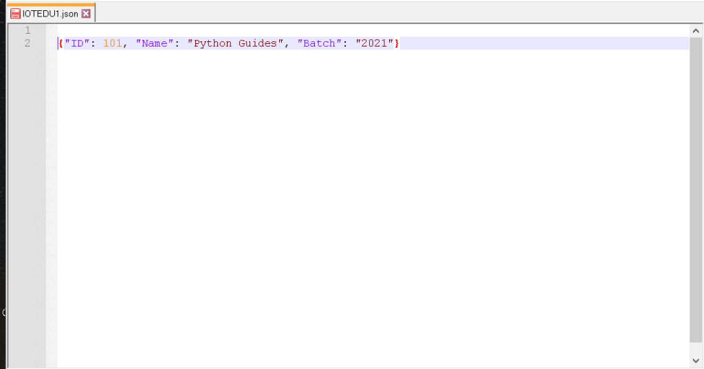 JSON editor using Python Tkinter