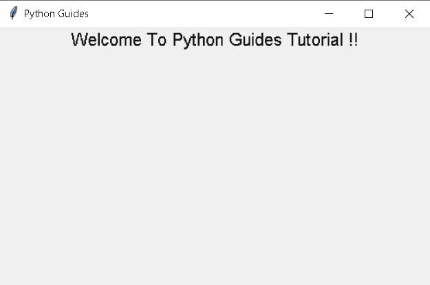 Python tkinter add label