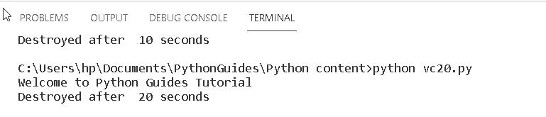 Python Tkinter after method1