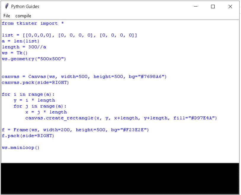 python tkinter code editor example
