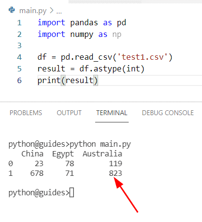 How to convert float to an integer in Pandas read_csv