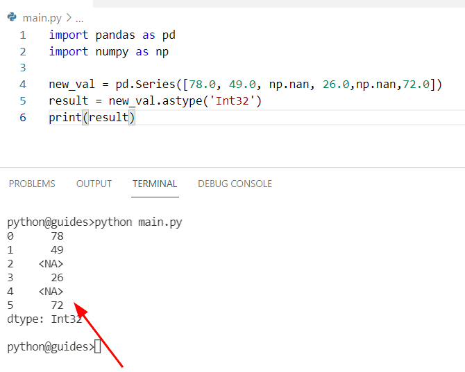 How to convert float to an integer in Pandas with nan
