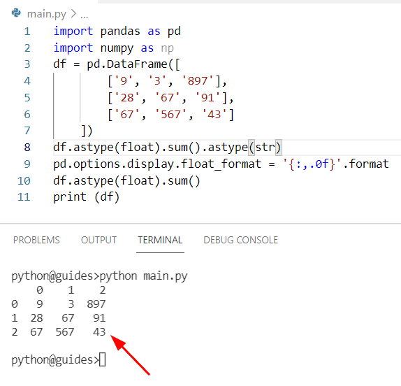 How to convert float to an integer in Pandas without decimal