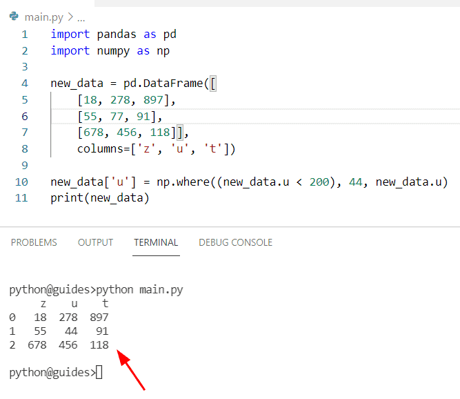 Pandas replace multiple values in a column based on condition