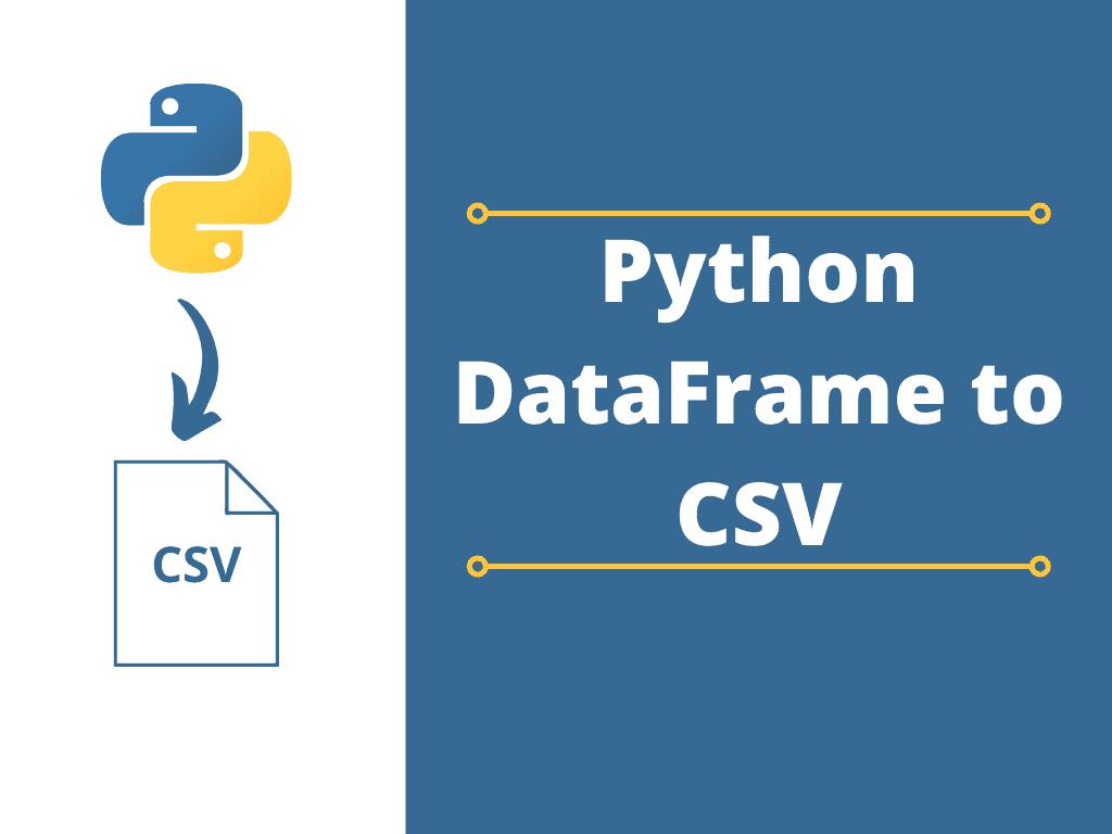 Python DataFrame to CSV