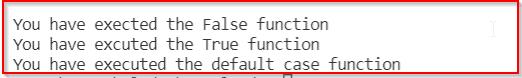 Python switch case boolean