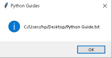 Python tkinter file dialog filter eexample