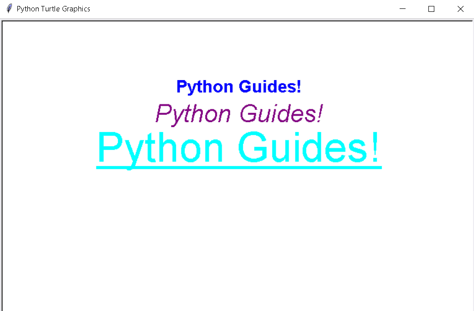 Python turtle font list