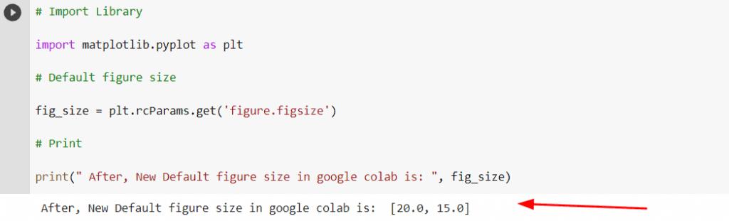 matplotlib googe colab default figure size