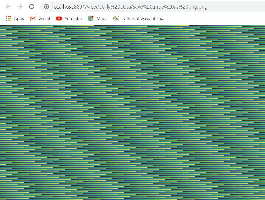 matplotlib save array as png