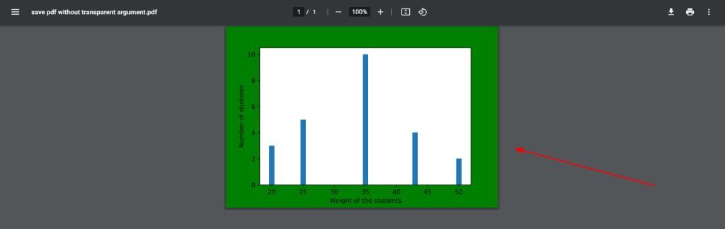 matplotlib save pdf transparent background